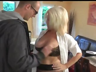 lucky young delivery boy seduced by horny divorced milf