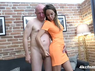 handjob as a side job - cfnm