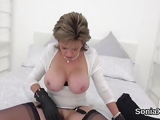 unfaithful british milf gill ellis flashes her enormous boobs