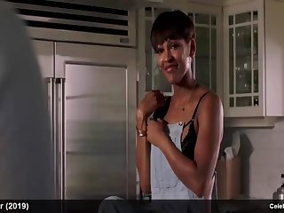 meagan good teasing in sexy lingerie & nude in shower